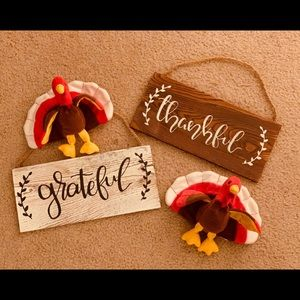 Custom Painted Thanksgiving Signs